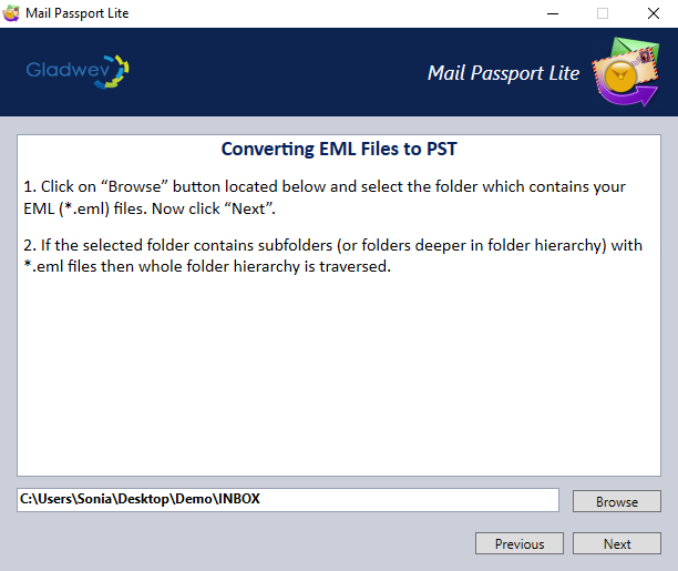 how to convert eml to pst file