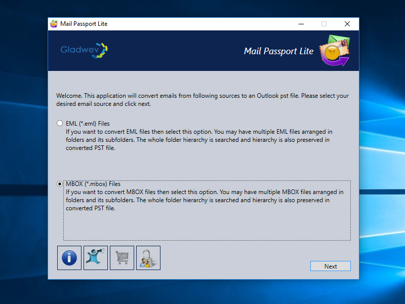Mail Passport Lite Screenshot